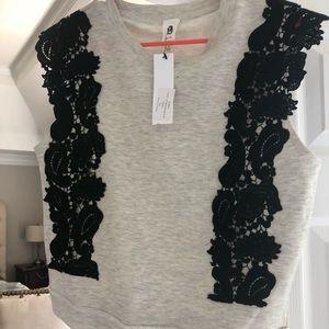 Flawless Vici sleeveless lace sweatshirt